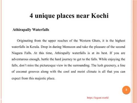 4 unique places near Kochi | Amazing Tourist Places In India | Logout World