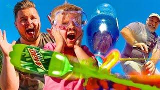 Kids Experiment with DIY SODA BOTTLE ROCKET!