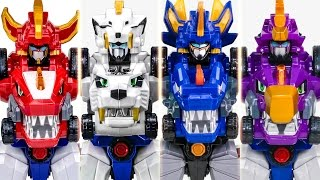 TubaN DinoCore Ultra D Buster Series Tyranno Stego Saber VS D Saver Cerato Transformation