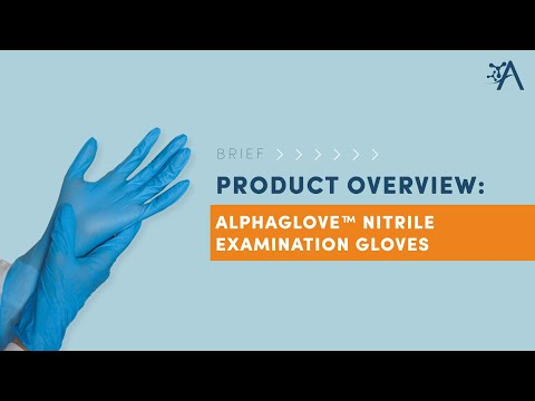 AlphaProMed AlphaGlove Nitrile Examination Gloves - Brief Product Overview