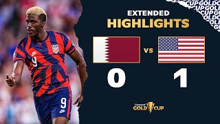 Extended Highlights: Qatar 0-1 USA - Gold Cup 2021
