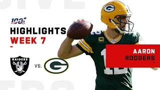 Aaron Rodgers Dismantles Raiders w/ 429 Yds & 5 TDs | NFL 2019 Highlights