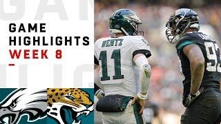 Eagles vs. Jaguars Week 8 Highlights | NFL 2018