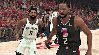 NBA 2K20 Gameplay - Brooklyn Nets vs Los Angeles Clippers Game 7 NBA Finals – NBA 2K20 PS4