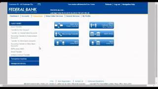 Federal Bank internet banking tutorial