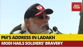 PM's address in Ladakh, Modi hails soldiers' bravery..