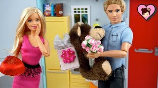 Barbie & Ken Valentines Day Special with Barbie Sisters Toy Video