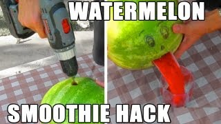 Misc Clip Of The Week: Watermelon Smoothie Hack In 2 Mins! (No Mess)