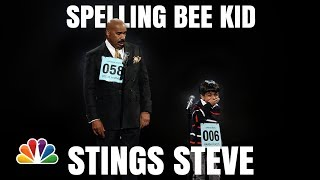 Little Big Shots | Steve Harvey and Akash Funny Spelling Bee | Season 1 2016