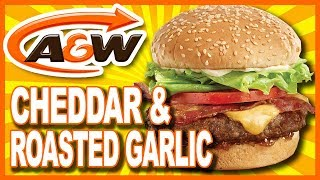 A&W 🍔 Cheddar & Roasted Garlic Uncle Burger® 🍔 Food Review