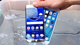 Samsung Galaxy S7 vs iPhone 6S Water Test! Actually Waterproof?