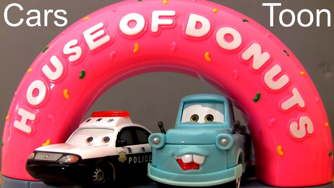 Cars Toon House Of Donuts Track Playset Tokyo Mater Disney