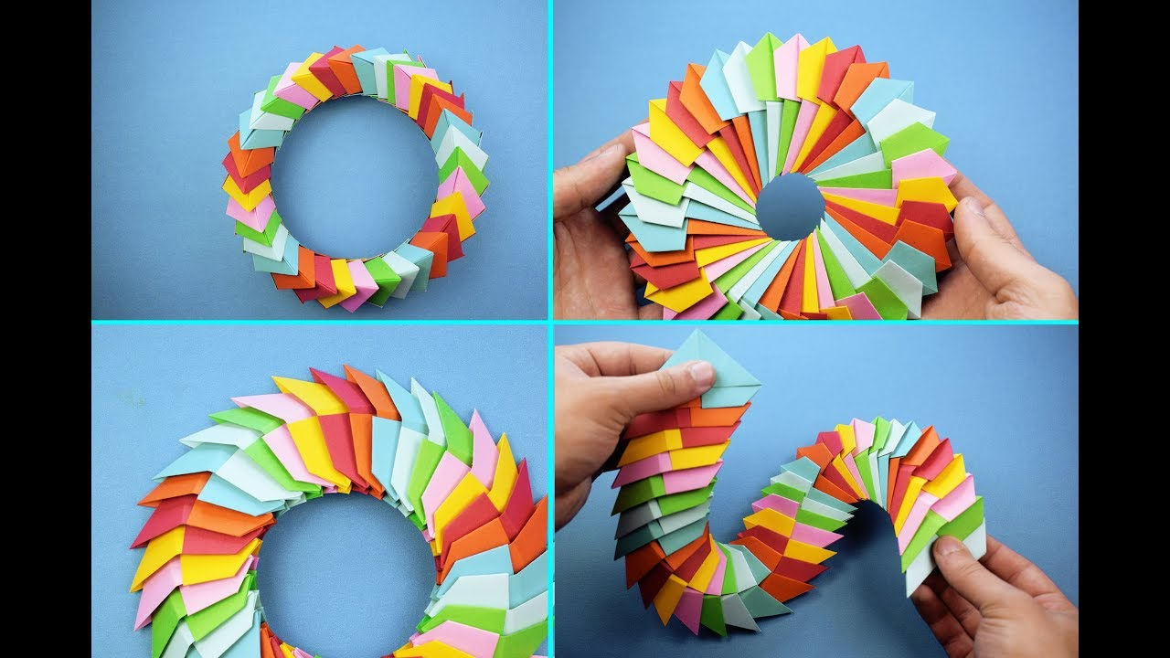 DIY How To Fold an Easy Origami Magic Circle Fireworks. Fun Paper ... | 720x1280