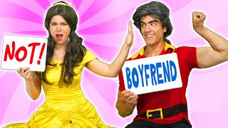 BELLE AND BEAST VS GASTON IN BOYFRIEND TAG. (From Beauty and the Beast) Totally TV