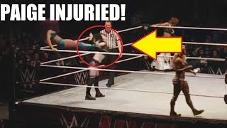 PAIGE INJURED AT WWE LIVE EVENT! (VIDEO)12/27/17
