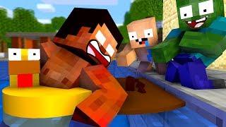 Monster School: FUNNY SWIMMING CHALLENGE - Best Minecraft Animation