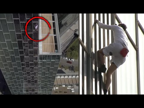 Watch: Free climber scales 380-foot skyscraper without safety gear