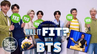 Will It Fit? with BTS   The Tonight Show Starring Jimmy Fallon
