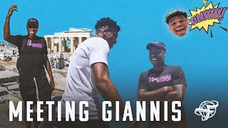 NBA MVP Giannis Antetokounmpo Does His Best Filayyyy Impersonation | *MY FIRST TIME IN GREECE*