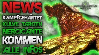 NEWS - Regenbogen Waffen bei kampfgehärtet Kulve Torth + Nergigante - Monster Hunter World Deutsch