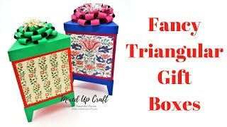 Fancy Triangular Gift Boxes | Triangle Gift Boxes