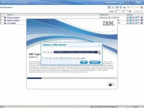 IBM Cognos TM1 Performance Modeler