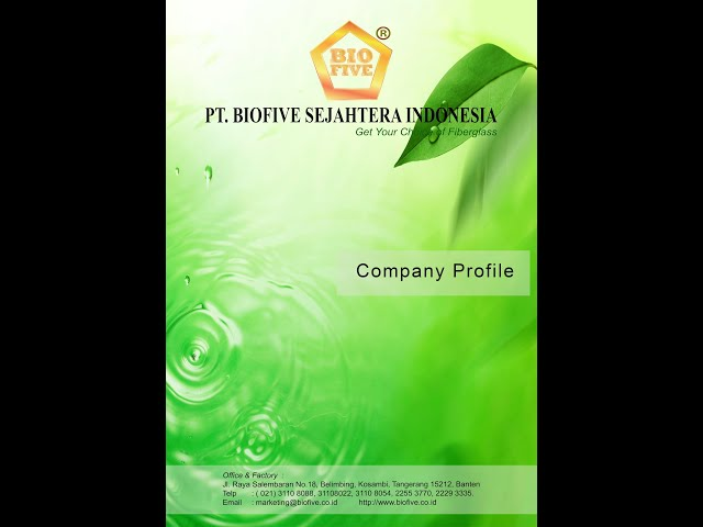 PT. BIOFIVE SEJAHTERA INDONESIA - Get Your Choice Of Fiberglass