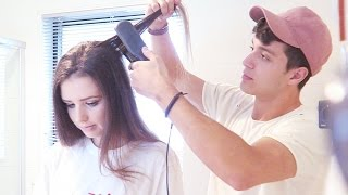 MY FIANCE TRIES TO DO MY HAIR