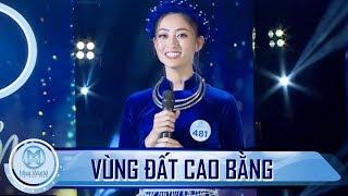Lương Thùy Linh gây ấn tượng với màn diễn thuyết về vùng đất Cao Bằng bằng tiếng anh lưu loát