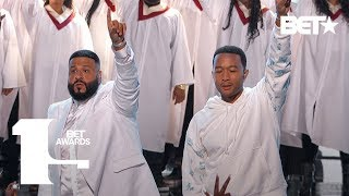YG, DJ Khaled & Marsha Ambrosius & John Legend Perform Tribute to Nipsey Hussle | BET Awards 2019