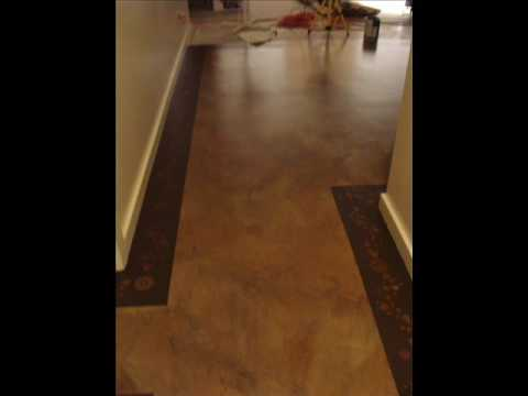 Diy Concrete Floor Painting Faux Finish Youtube
