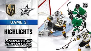 NHL Highlights | WCF, Gm3 Golden Knights @ Stars - Sept. 10, 2020