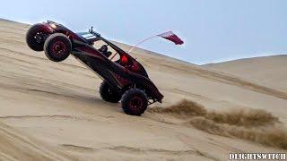 Twin Turbo Sand Rail playing in the Qatari Desert