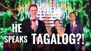 Wedding Host pretends he can't speak Tagalog... Then surprises everyone
