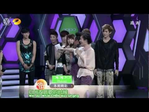 [ENG/中字/CUT/HD] 120609 EXO-M Happy Camp (Part 1/2) 湖南卫视 快乐大本营 (上)