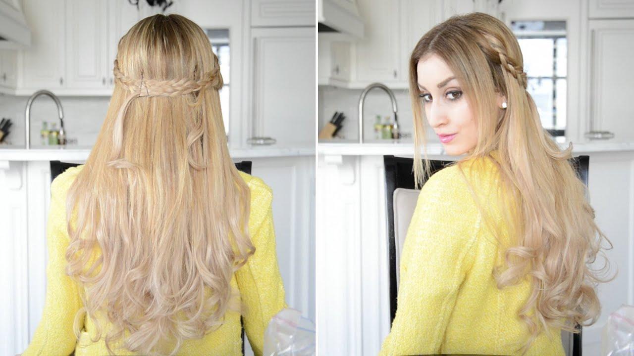 Dutch Braided Half Up Half Down Hairstyle Fancy Hair