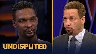 Chris Bosh advocates Giannis Antetokounmpo for MVP, talks NBA players recruiting | NBA | UNDISPUTED