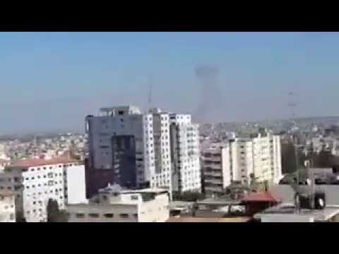 شاهد لحظة قصف طيران الاحتلال قطاع غزة