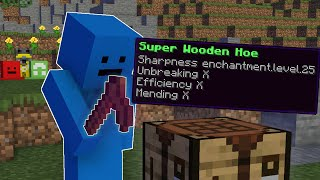 Minecraft Manhunt, But Wooden Tools Are Secretly OP!