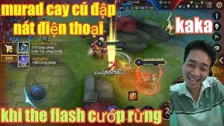 Liên Quân Mobile _ The Flash Troll Rừng Bạn Khiến Murad Cay Cú Đập Nát Điện Thoại   Max Hài