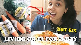 living on £1 a day for a week - DAY SIX | clickfortaz