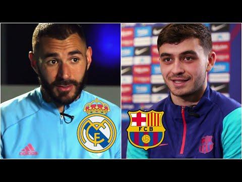 ¡NO TE LO PIERDAS! Benzema y Pedri calientan el Clásico Real Madrid vs Barcelona.   La Liga
