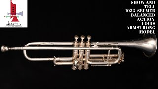 A classic 1933 Selmer Balanced Louis Armstrong model  Trumpet!  Check out this  ACB  Show And Tell