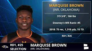 Marquise Brown Picked By The Ravens With Pick #25 In 1st Round of 2019 NFL Draft - Grade & Analysis