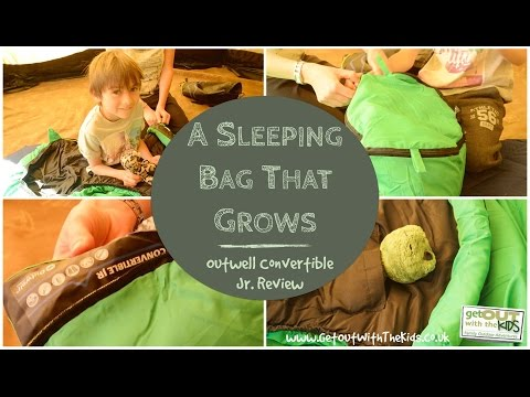 video Outwell Convertible Kids Sleeping Bag