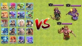 MAX TROOPS VS LEVEL 1 HEROES | WHO WILL WIN ?? | CLASH OF CLANS |