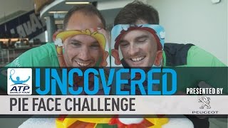 ATP World Tour Stars Take Part In Pie Face Challenge