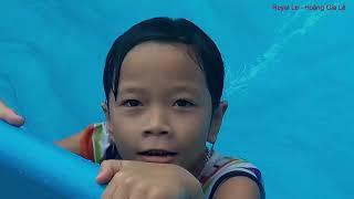 Tắm Bể Bơi Phao Trượt Phao Nước   Nhạc Thiếu Nhi Vui Nhộn - Swimming Pool Children's Music Fun