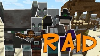 Minecraft 1.14 Survival Raid Levels 1 to 10