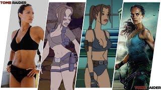 Lara Croft (Tomb Raider) Evolution in Movies & Cartoons (2018)